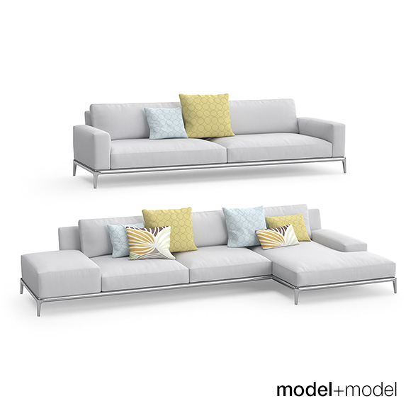 Poliform Park sofas - 3DOcean Item for Sale