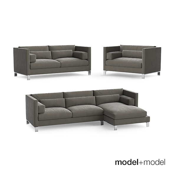 Linteloo Lobby sofas and armchair - 3DOcean Item for Sale