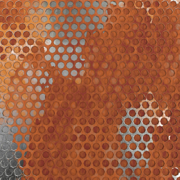 Weathered Honeycomb Plate 3D Model - 3DOcean Item for Sale
