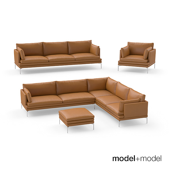 Zanotta William sofas and armchair - 3DOcean Item for Sale