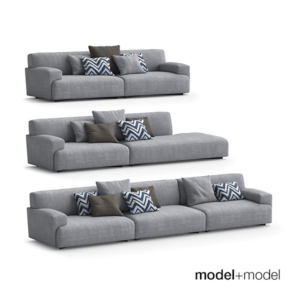 Poliform Soho sofas - 3DOcean Item for Sale