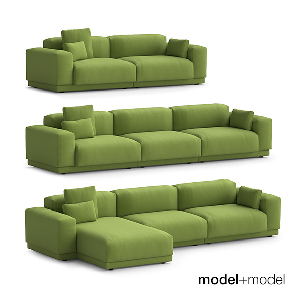 Vitra Place sofas - 3DOcean Item for Sale