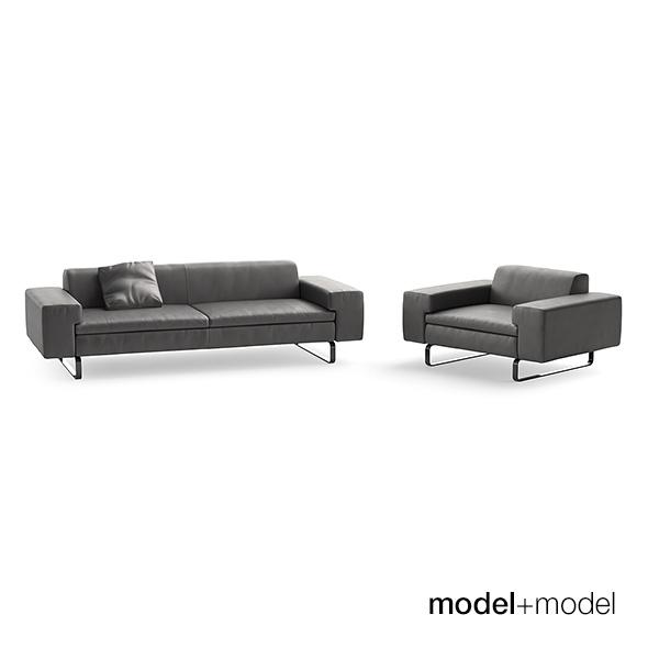 3DOcean Arflex Moods sofa and armchair 18372514