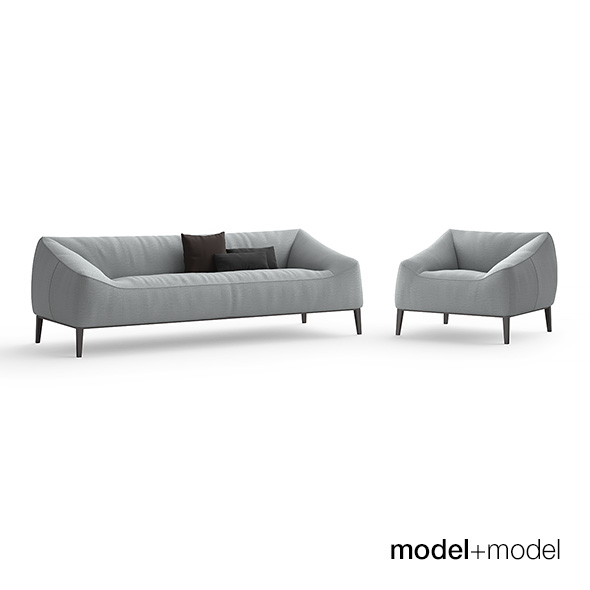 Poliform Carmel sofa and armchair - 3DOcean Item for Sale