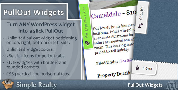 PullOut Widgets - CodeCanyon Item for Sale