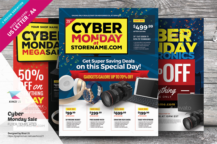Cyber Monday Sale Flyer Templates by kinzi21 – Sales Flyer Template