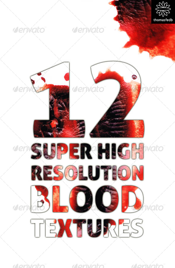 GraphicRiver 12 Super High Resolution Blood Textures 70652