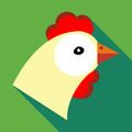 Hen icon in flat style