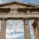Ancient Columns Of Greek Acropolis