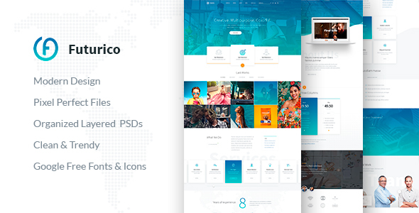 Futurico - Multipurpose PSD Template