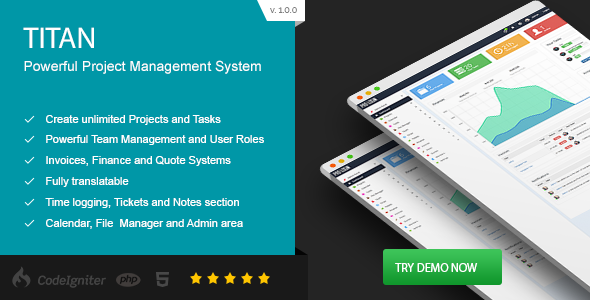 Download TITAN - Project Management System nulled download