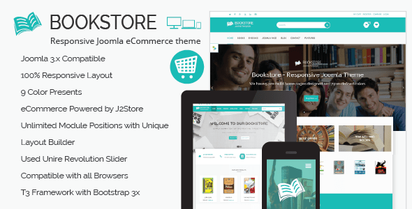 Image of Book Store - Responsive Joomla eCommerce Theme
