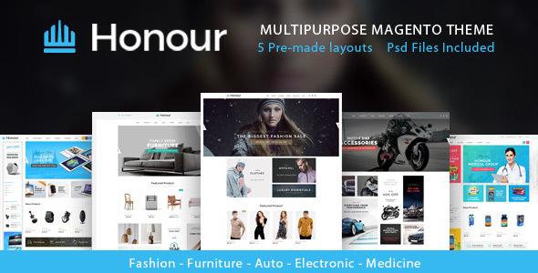 Honour – Multipurpose Responsive Magento2 Theme | Fashion Furniture Auto & Electronics & Medicine (Magento)