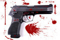 Pistol with blood splats. - PhotoDune Item for Sale
