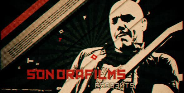 AE模板-黑白复古风格犯罪动作片头电影开场宣传视频粒子模版Kremlin免费下载