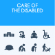 Care of the disabled icons