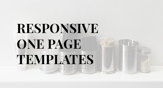 Responsive One Page Templates