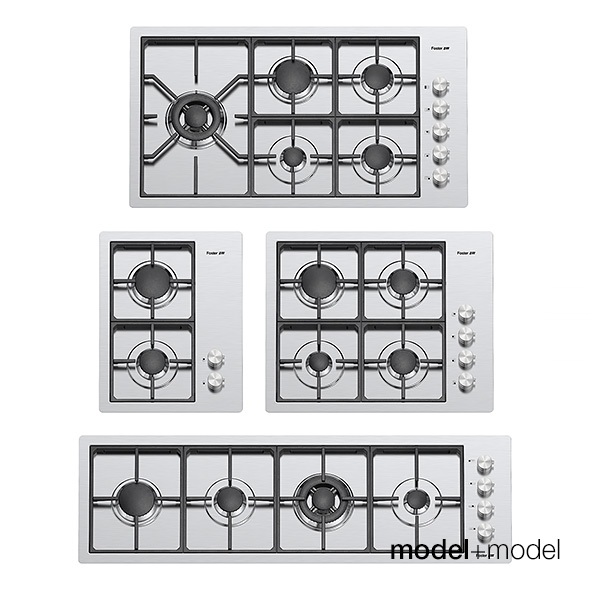 Foster gas cooktops - 3DOcean Item for Sale
