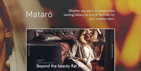 Mataro - Photography, Portfolio and Gallery WordPress Theme