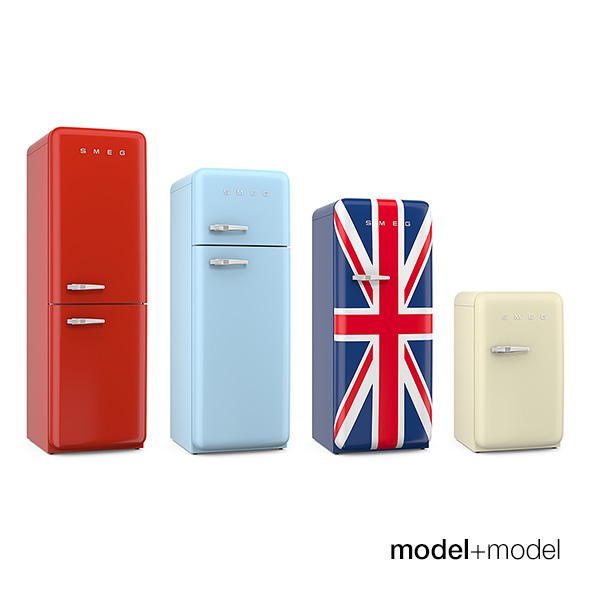 Smeg fridges - 3DOcean Item for Sale