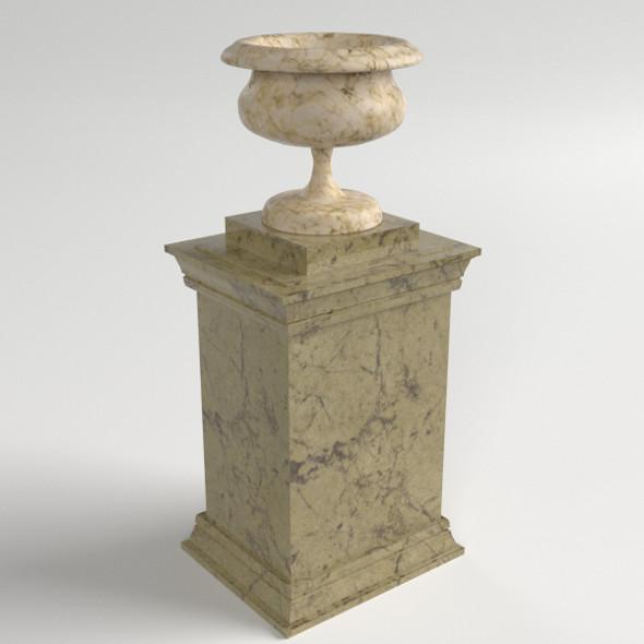 Vase on a pedestal - 3DOcean Item for Sale