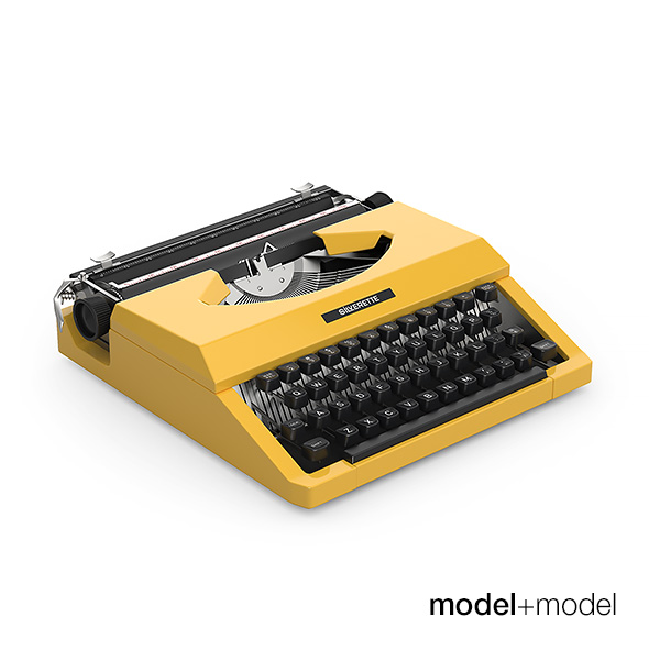 Silver Reed typewriter - 3DOcean Item for Sale