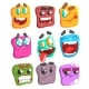 Square Face Colorful Emoji Set