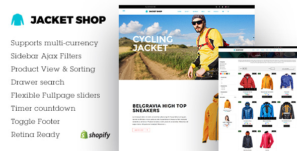 Jacket Shop | Shopify theme