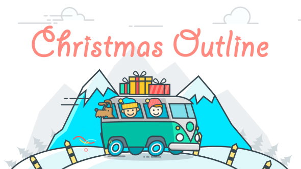 VideoHive Christmas Outline 18395849