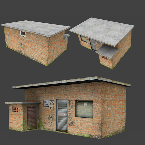 Short Stay Low Poly House - 3DOcean Item for Sale