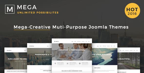 00 Preview.  large preview - Mega - Responsive Multi-Purpose Joomla Theme