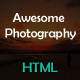 Awesome Photography Responsive Multipurpose Single Page Template
