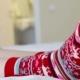 Female Legs In Christmas Socks