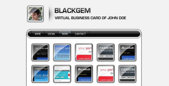Blackgem vCard - Virtual Business Card Personal