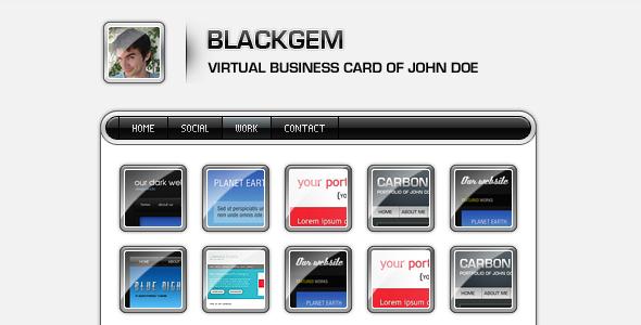 ThemeForest Blackgem vCard 70762