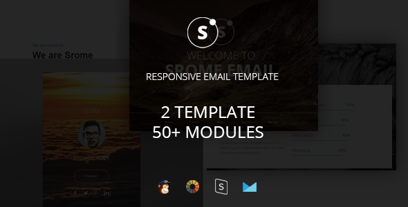 Sromed - Multipurpose Responsive Email Template + Stampready Builder