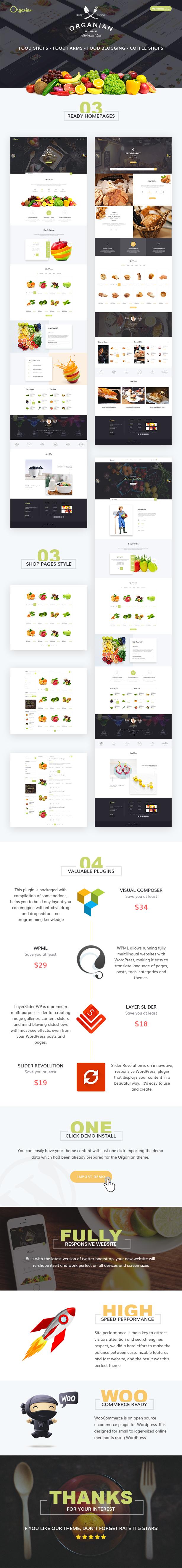 Organian Food, Responsive WordPress Theme