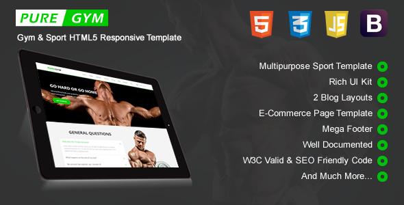 PureGym - Sport & Gym HTML5 Responsive Template