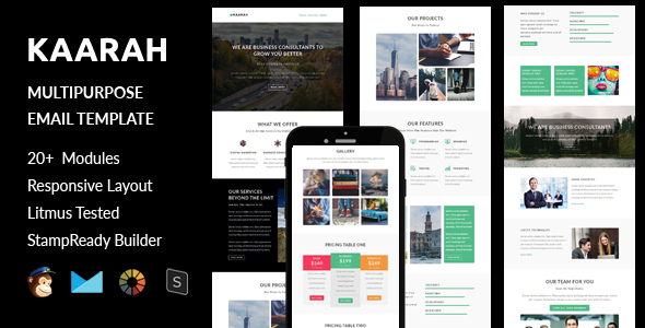 Kaarah - Multipurpose Responsive Email Template + Stampready Builder
