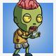 Exposed Brain Zombie