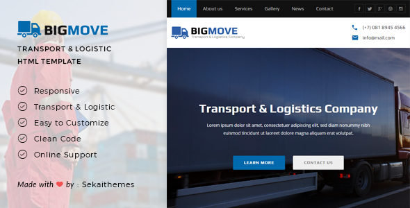 Big Move - Responsive Transport & Logistics HTML Template