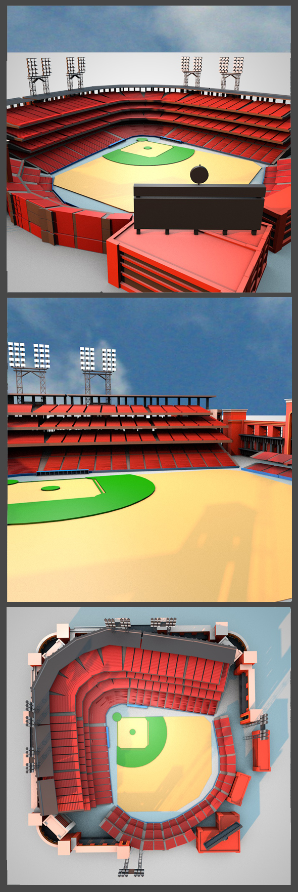 Busch Stadium - 3DOcean Item for Sale