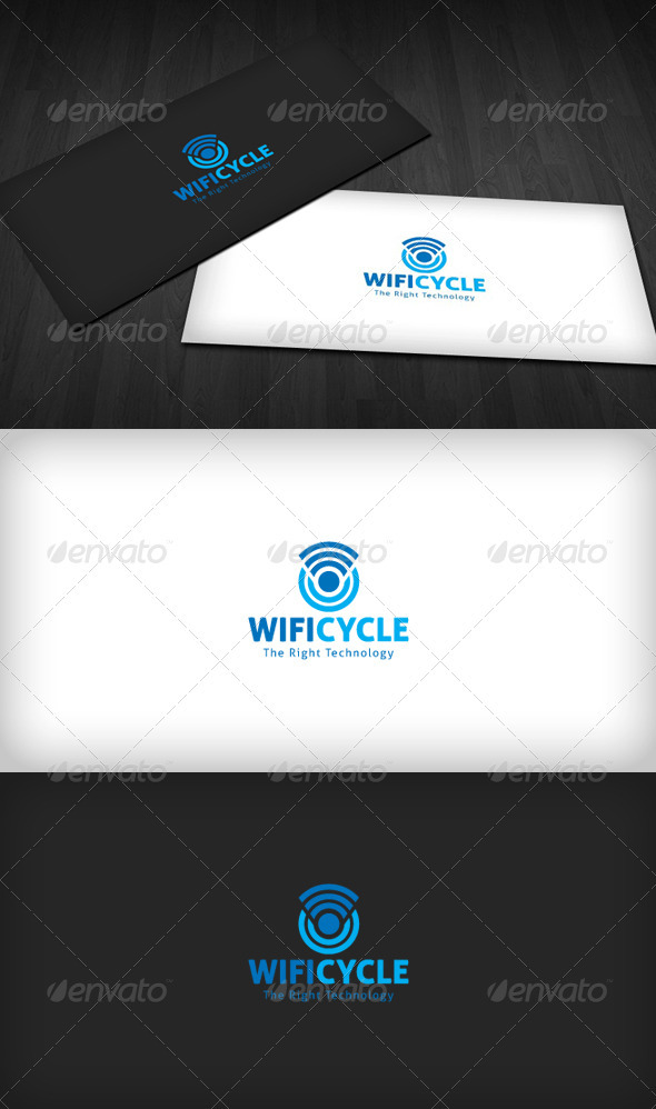 Wifi Cycle Logo - Symbols Logo Templates