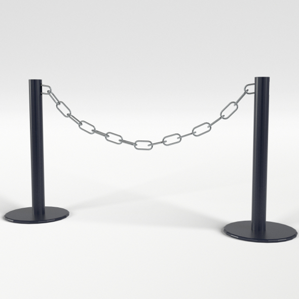 Chain Barrier - 3DOcean Item for Sale