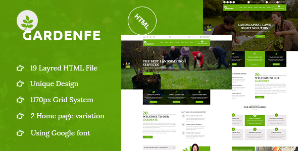 Gardenfe - Gardening and Landscaping HTML Template