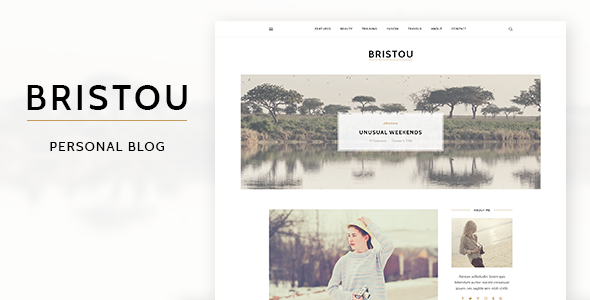 Bristou - Personal Blog PSD Template