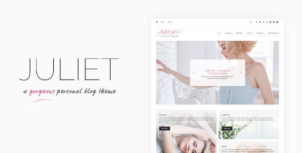 Download Juliet - A Gorgeous Personal Blogging Theme nulled download