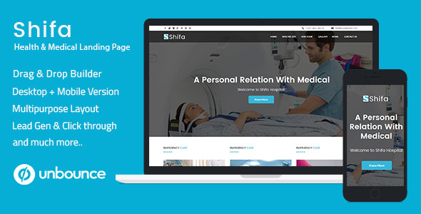 Download Unbounce Multipurpose Landing Pages Pack - Shifa nulled download
