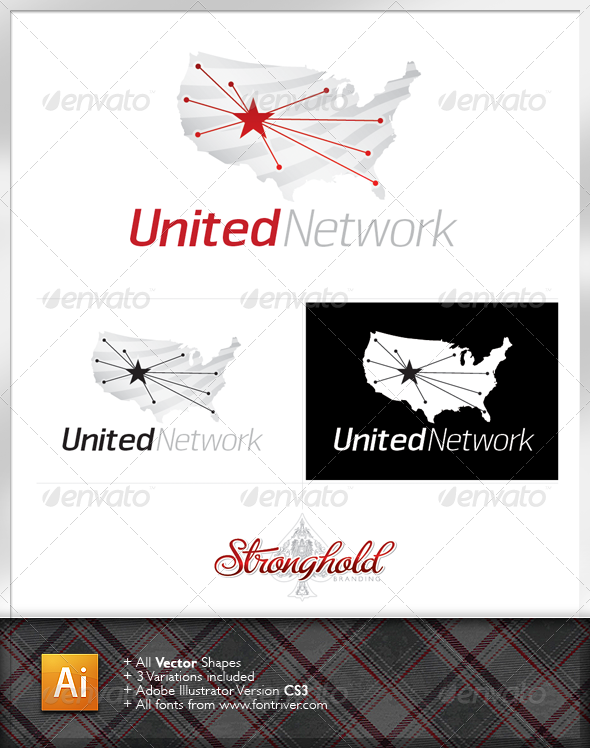 United Network Logo Template