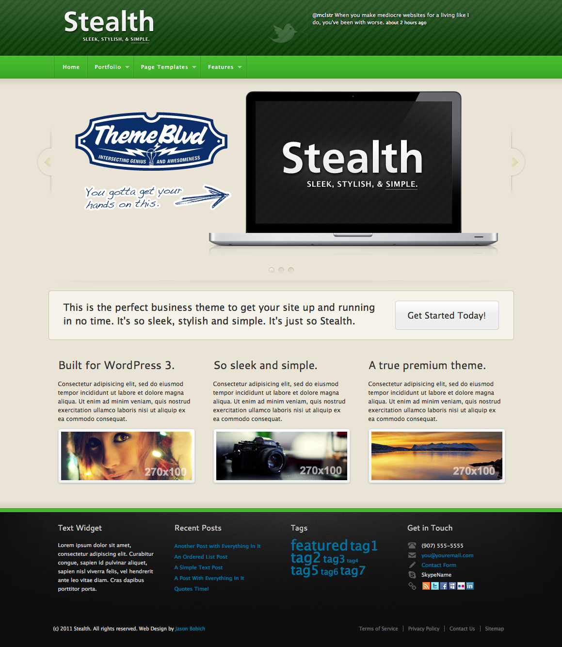 Stealth Premium WordPress Theme